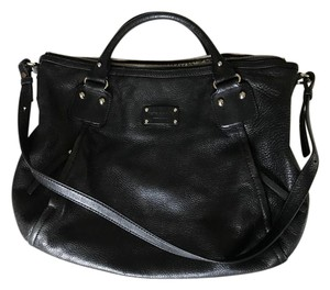 Kate Spade Pebbled Leather Satchel in Black