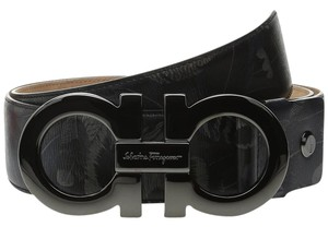 Salvatore Ferragamo Salvatore Ferragamo Double Gancini Adjustable Belt 679316 Big Buckle36