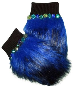 Juicy Couture jeweled faux fur hand warmers