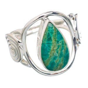 Other Amazonite 925 Sterling Silver Ring Size 6.25