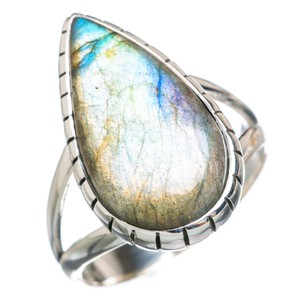 Other Labradorite 925 Sterling Silver Ring Size 7.75