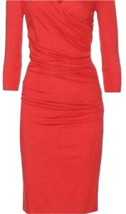 Diane von Furstenberg short dress Red/orange on Tradesy
