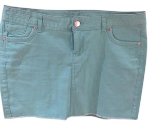 Express Mini Skirt Mint Green