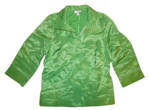 Charter Club Gold Zipper Green Jacket