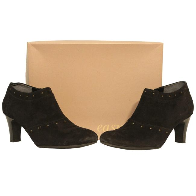Item - Black Leather Suede Ankle (8.5) Boots/Booties Size US 8.5 Regular (M, B)