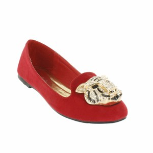 Red Circle Footwear Red Flats