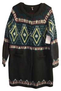 Free People Wool Mohair Fair Isle Sweater
