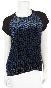 Diane von Furstenberg Top Black And Navy