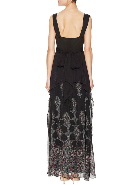 Free People Belladonna Belladonna Bohemian Crinkly Chiffon Feminine Stand-out Maxi Dress