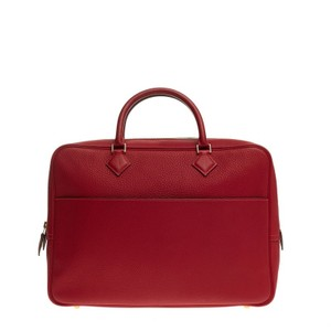 Herms Hermes Leather Satchel in Red