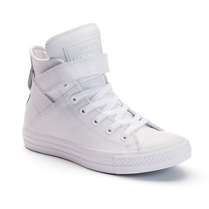 Converse High Top Leather White Flats