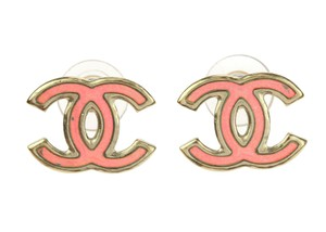 Chanel Chanel CC Logo Iridescent Holographic Earrings