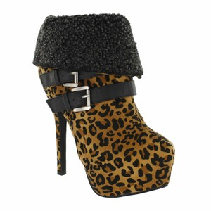 Red Circle Footwear Bootie Highheel Sexy Leopard Boots