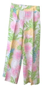 Lilly Pulitzer Baggy Pants Pink, green, white