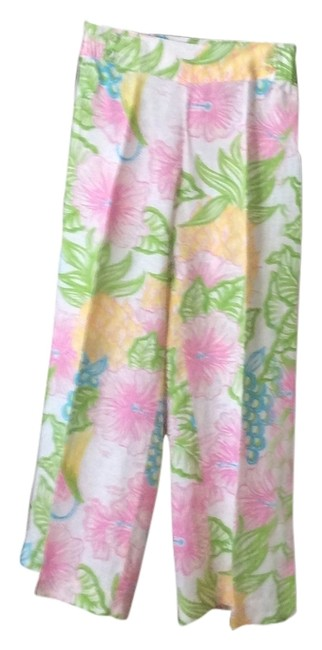 Lilly Pulitzer Pink Green White Summer Collection Pants Size 12 (L, 32, 33) Lilly Pulitzer Pink Green White Summer Collection Pants Size 12 (L, 32, 33) Image 1