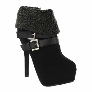 Red Circle Footwear Bootie Highheel Sexy Black Boots