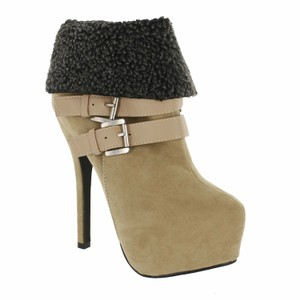 Red Circle Footwear Bootie Highheel Sexy Nude Boots