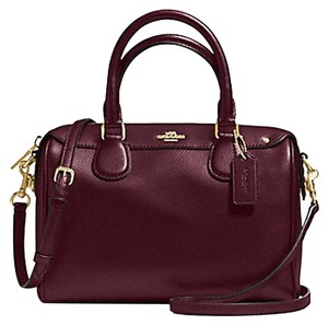 Coach Small Classic Shoulder Strap Satchel in Burgundy