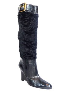 Hype Knee High Tall Black Boots