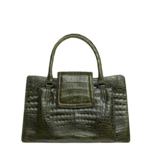 Nancy Gonzalez Crocodile Tote in Green