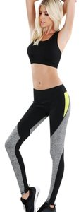 Nikibiki Nikibiki Melange Colorblock Workout Pants in Yellow and Gray