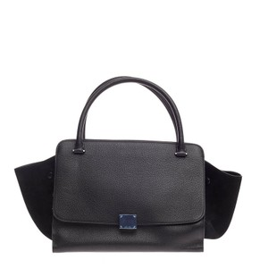 Céline Celine Leather Tote in Black