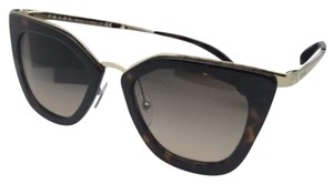 Prada New PRADA Sunglasses SPR 53S 2AU-3D0 52-21 Tortoise & Gold w/Brown