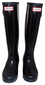Hunter Tall Gloss black Boots