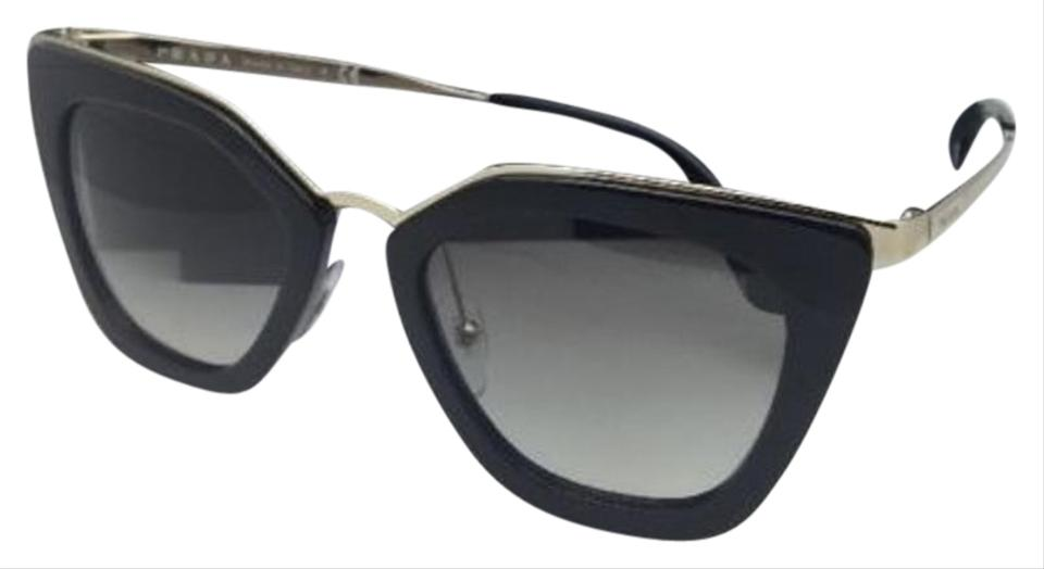 269346437f1d2 Prada New Spr 53s 1ab-0a7 52-21 Black   Gold Frame W  Grey Gradient ...