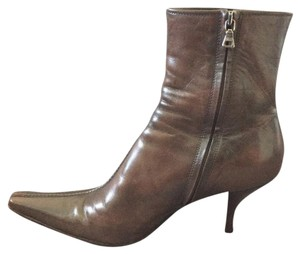 Prada Leather Bootie Brown Boots