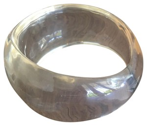 R.J. Graziano Lucite Clear Hollow Bangle Bracelet - NWT