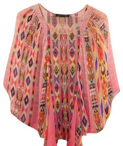 Tanvi Kedia Top pink / orange / blue / yellow