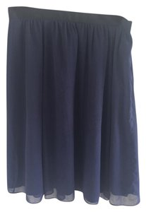 Other Flowy Ribbon Lined Skirt Navy/Black