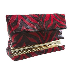 Tamara Mellon Red Zebra Clutch