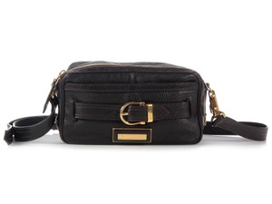 Burberry Belted Dark Brown Grained Cross Body Bag