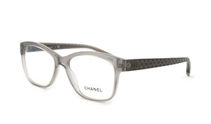 Chanel NEW Chanel CH 3324 Grey Rectangle Quilted Eyeglasses Frames