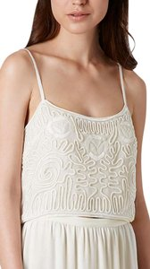 Topshop Cornelli Lace Crop Top cream