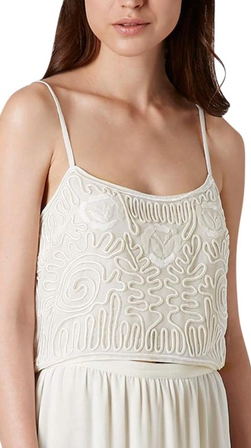 Item - Cream Cornelli Lace Cropped Tank Top/Cami Size 4 (S)