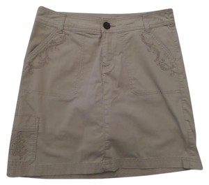 Croft & Barrow Embroidered Skort Tan