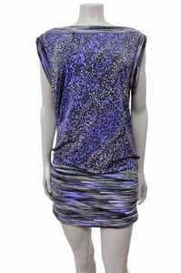 BCBGMAXAZRIA short dress Multi-Color Bcbg Maxazria Cap Sleeve on Tradesy