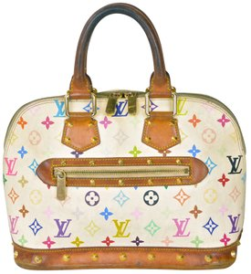 Louis Vuitton Alma Alma Monogram Handbag Satchel in White