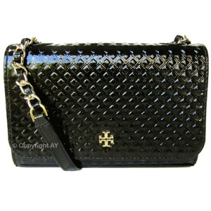 Tory Burch Patent Leather Embossed Shoulder Bag