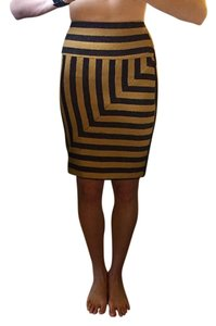 Anthropologie Skirt Camal/black