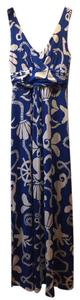 Blue Maxi Dress by Lilly Pulitzer Maxi Print Nautical Preppy