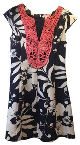Lilly Pulitzer short dress Navy Embroidered Print on Tradesy