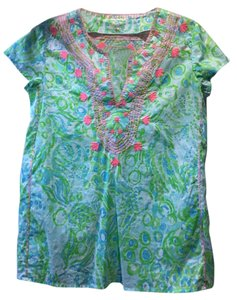 Lilly Pulitzer Embroidered Print Tunic