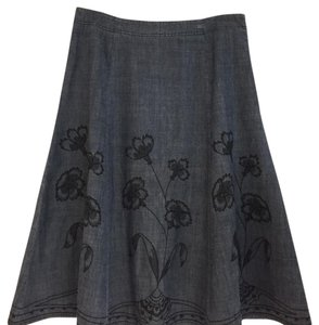 J. Jill Skirt Blue/Black