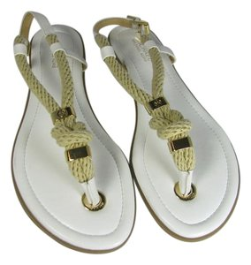 Michael Kors Rope Flat white Sandals