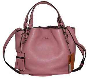 Tod's Leather Flower Satchel in Mauve