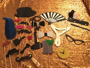 1920's Inspired Photobooth Props
